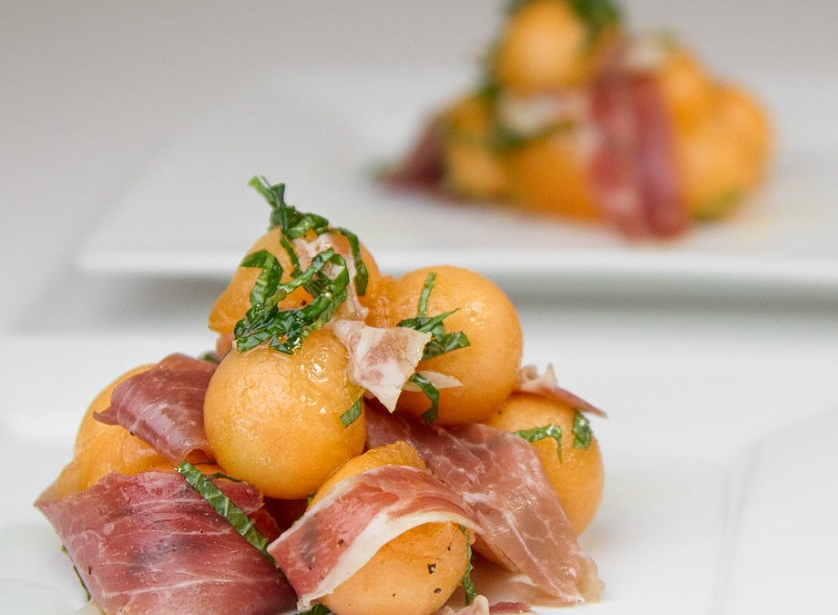 Prosciutto with Melon and Lime