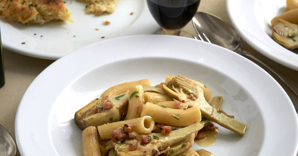 Rigatoni with Artichokes and Anchovies