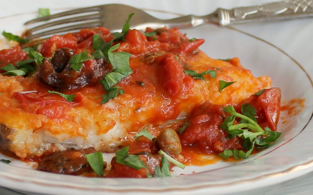 Baccala with Tomato and Olives